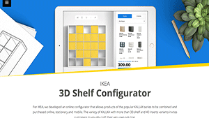 IKEA 3D Shelf Configurator